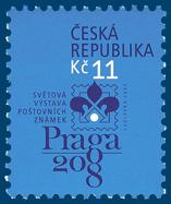 Světová výstava poštovních známek PRAGA 2008: logo výstavy