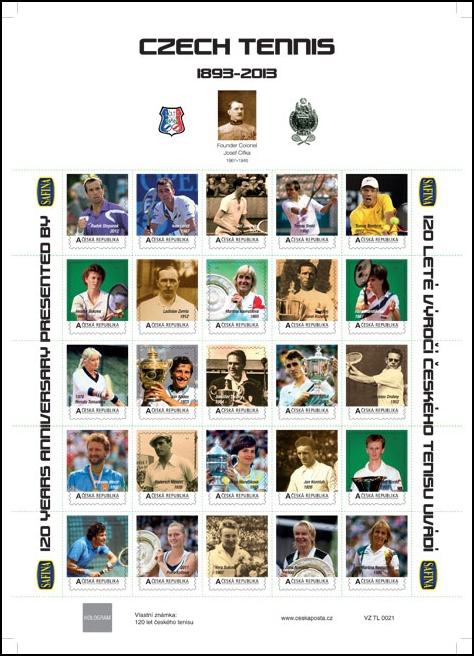 Tenisové legendy na poštovních známkách