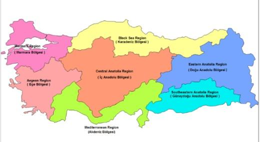Turecko - Adana, Ain Tab, Antalya, Alexandretta, Akpinar, Anatolia, Angora, Ankara…Západné Turecko