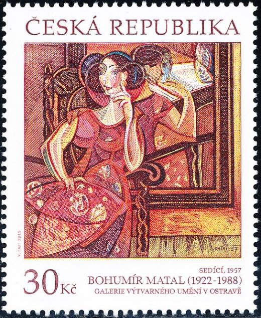 Umělecká díla na známkách - Bohumír Matal