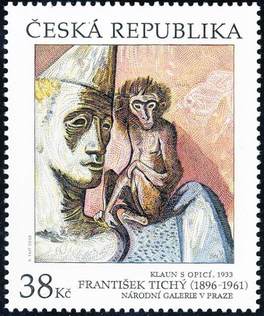 Umělecká díla na známkách - František Tichý (1896 – 1961)