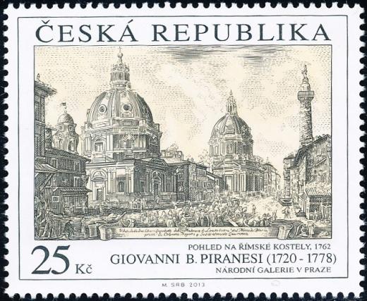 Umělecká díla na známkách: Giovanni Battista Piranesi (1720 – 1778)