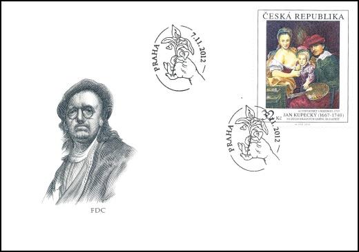 Umělecká díla na známkách: Jan Kupecký (1667 - 1740)