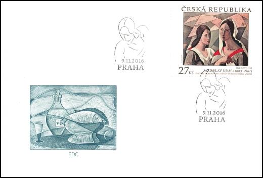 Umělecká díla na známkách - Jaroslav Král (1883 – 1942)