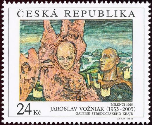 Umělecká díla na známkách - Jaroslav Vožniak (1933 - 2005)