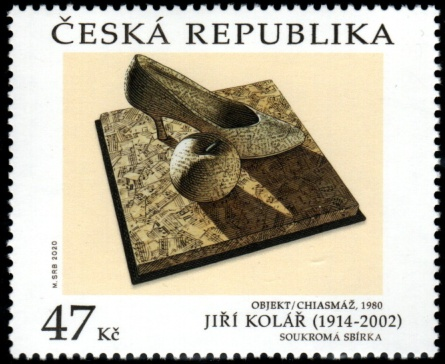 Umělecká díla na známkách - Jiří Kolář