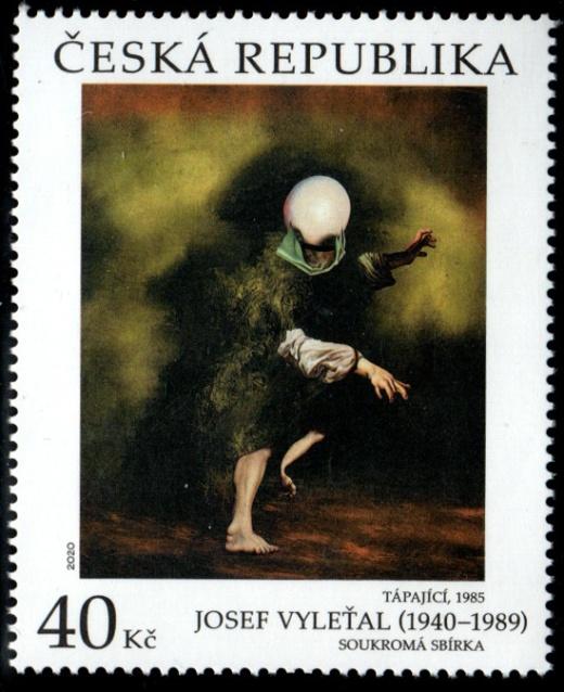 Umělecká díla na známkách - Josef Vyleťal