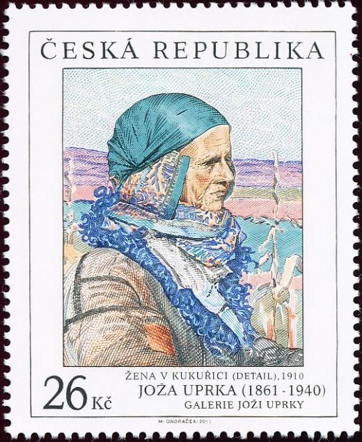 Umělecká díla na známkách - Joža Uprka (1861 - 1940)