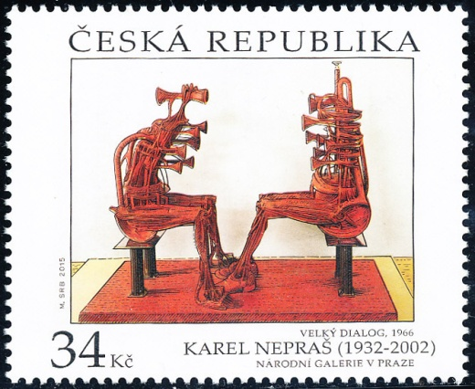 Umělecká díla na známkách - Karel Nepraš