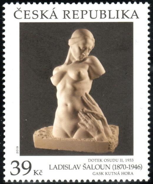 Umělecká díla na známkách - Ladislav Šaloun