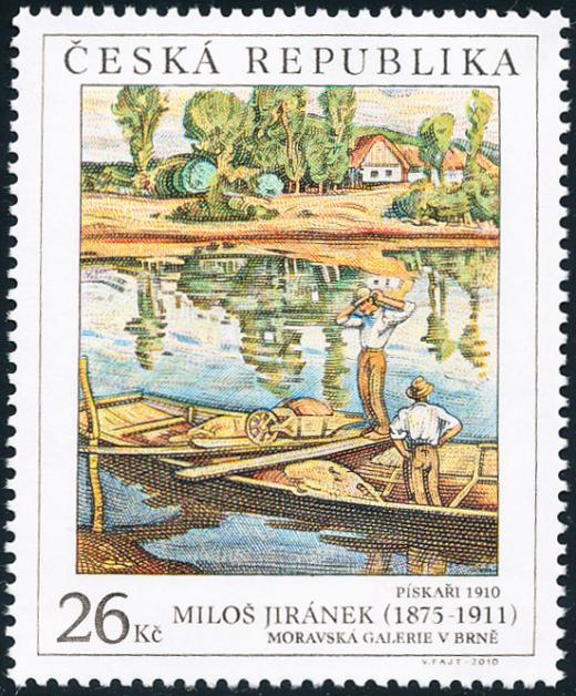 Umělecká díla na známkách: Miloš Jiránek (1875 - 1911)