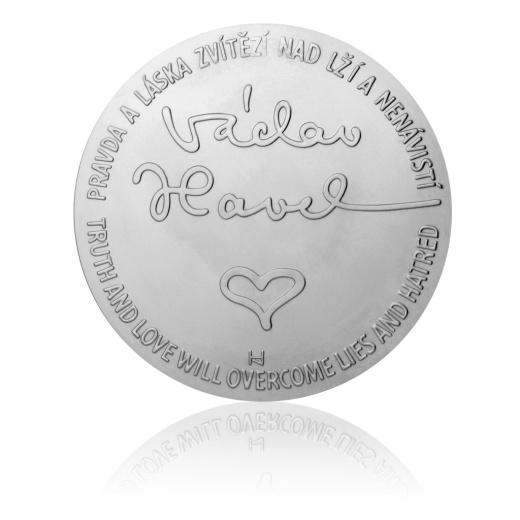 Unikátní platinová medaile na stánku České mincovny