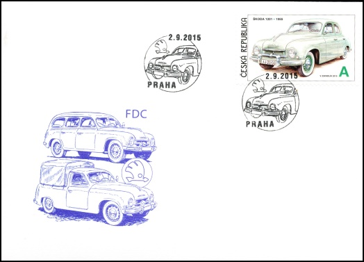 Václav Zapadlík - Česká auta - Škoda III. (známkový sešitek)