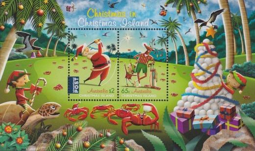 Vánoční emise 2017 Vánočního ostrova