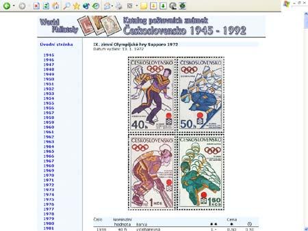 Vánoční novinka: CD-ROM World Philately 2006 – Československo II. (1945-1992)