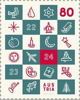 Vánoční známky kolem nás