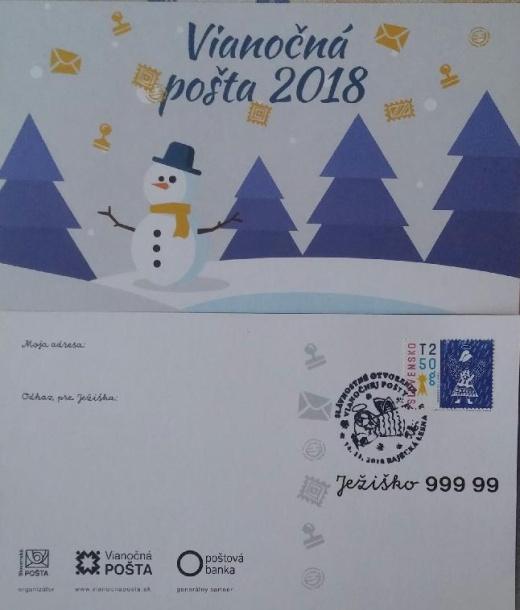 Vianočná pošta 2018 otvorená