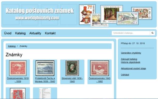 Worldphilately.com – katalog poštovních známek on-line