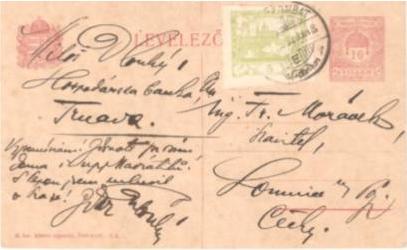 Zaujímavý poštový doklad k Hospodárskej banke Trnava