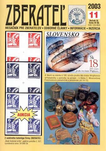 Zberateľ číslo 11/2003