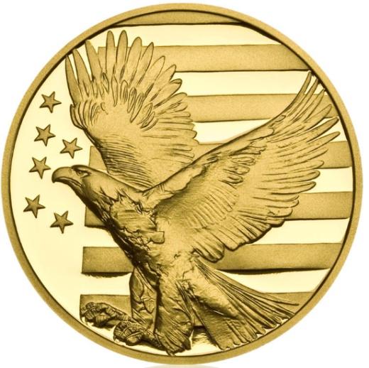 Zlatá půluncová medaile Abraham Lincoln proof