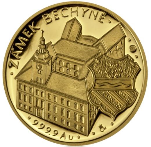 Zlatá půluncová medaile Petr Vok z Rožmberka proof