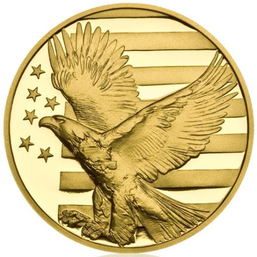 Zlatá uncová medaile Abraham Lincoln proof