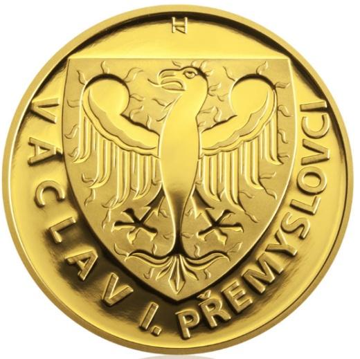 Zlatá uncová medaile Hrad Loket proof