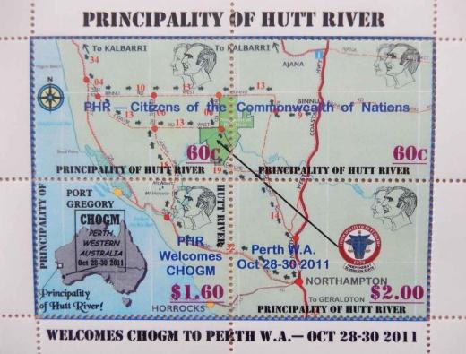 Známky Knížectví Hutt River - nic neobvyklého