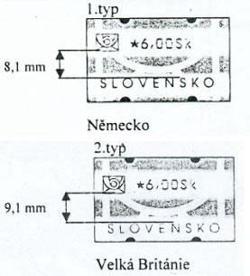 Zpravodaj 1/2003: Dva typy slovenských automatových známek