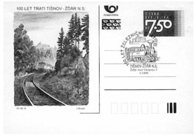 Zpravodaj 1/2006: 100. výročí železniční trati TIŠNOV – ŽĎÁR n. Sázavou oslavili i filatelisté