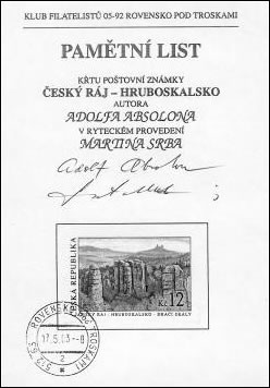 Zpravodaj 3/2003: Krásná známka uvítána v srdci Českého ráje