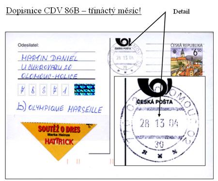Zpravodaj 3/2006: Dopisnice CDV 86B – třináctý měsíc!