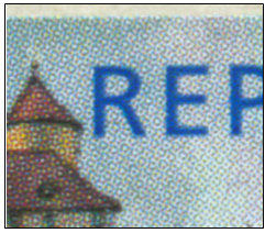 Zpravodaj 3/2006: Varianty u poštovní známky Hrad Veveří