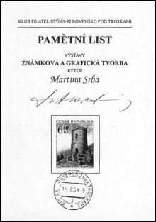 Zpravodaj 4/2004: Výstava Martina Srba v Rovensku pod Troskami