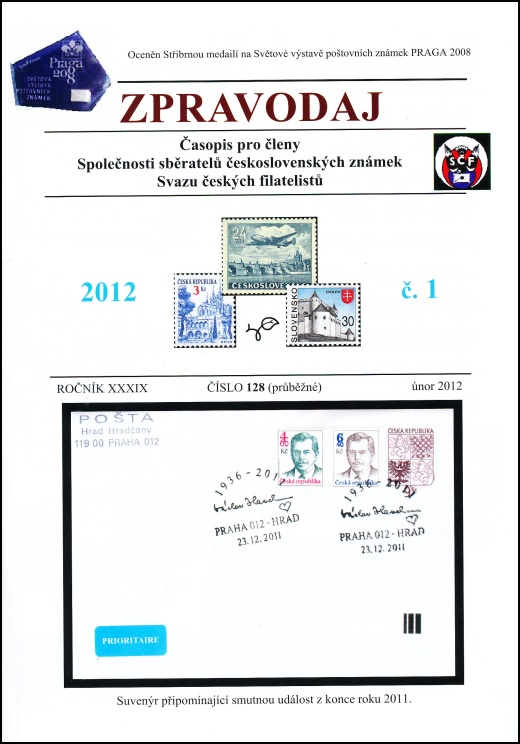Zpravodaj SSČSZ SČF – 1/2012