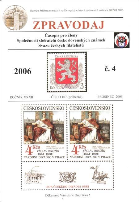 Zpravodaj SSČSZ SČF – 4/2006
